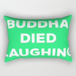 BUDDHA DIED LAUGHING Rectangular Pillow