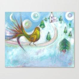 Christmas Dream Bird Canvas Print