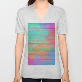 pastel coloured abstract design Unisex V-Neck