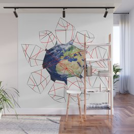 Wrapped to a Warped World Wall Mural