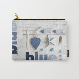 Blue collected items maritime collage Carry-All Pouch