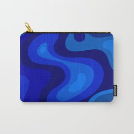 Blue Abstract Art Colorful Blue Shades Design Carry-All Pouch