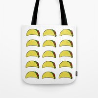taco Tote Bags featuring Taco Party by Leah Flores