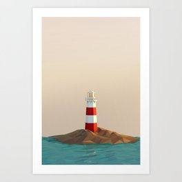 calm lighthouse Art Print