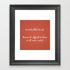 Proverbs: Curiosity Framed Art Print