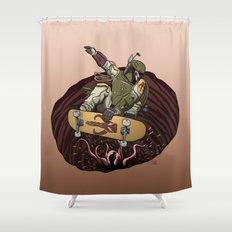 Boba Fett Shreds Shower Curtain