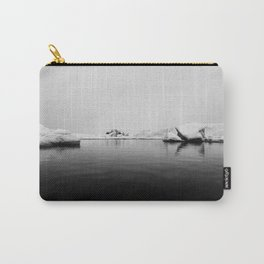 Ice lake black white Carry-All Pouch