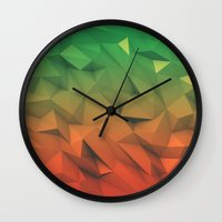 low poly Wall Clocks featuring Mango (Low Poly) by error23