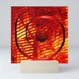 Red Spiral Mini Art Print