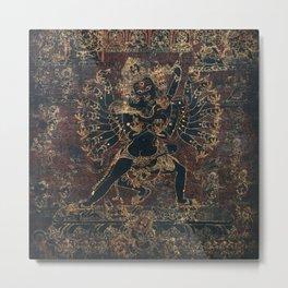 Shri Hevajra Black Death Thangka Metal Print