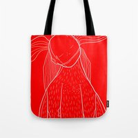 iron giant Tote Bags featuring Giant by Vasco Vicente