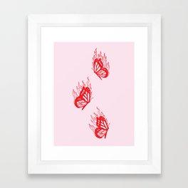 Give Me Butterflies Framed Art Print