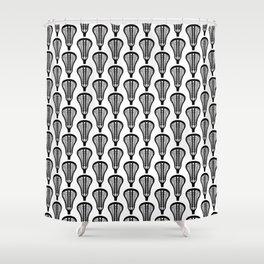 Girls'/Women's Lacrosse Sticks - Black Shower Curtain