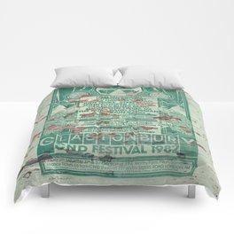 Distressed Glastonbury 1982 Poster Comforters