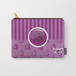 Purple Writer's Mood Carry-All Pouch