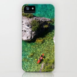Kayaking In The Bruce Peninsula iPhone Case