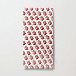 Strawberry Beetle Metal Print