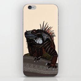 iguana ecru iPhone Skin