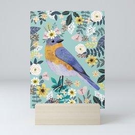 Blue Bird Mini Art Print