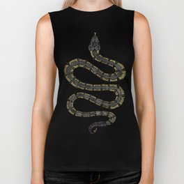 Serpent – Black & Gold Biker Tank