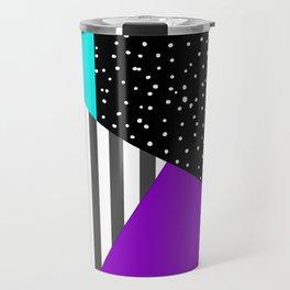 Geometric patchwork 6 Travel Mug