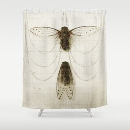 Cicada Pair Shower Curtain