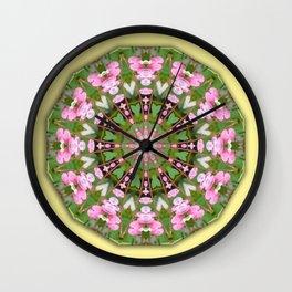 Bleeding heart, Nature Flower Mandala, Floral mandala-style Wall Clock