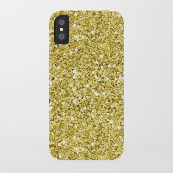 Chunky gold glitter iPhone Case by peggieprints  2477c040c0b2