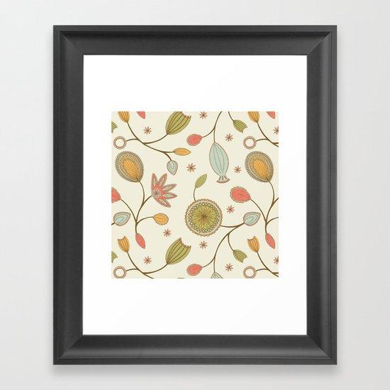Mehndi Flower Framed Art Print