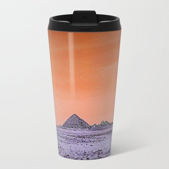 Purple pyramid in Nevada? Metal Travel Mug
