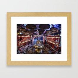 The Oriental Boudhist Temple Framed Art Print