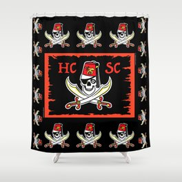 HCSC Pirate Flag Shower Curtain