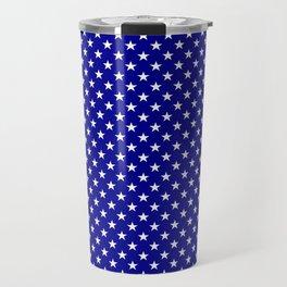 Large White Stars on Australian Flag Blue Travel Mug