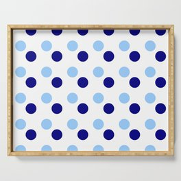new polka dot 15- blue Serving Tray