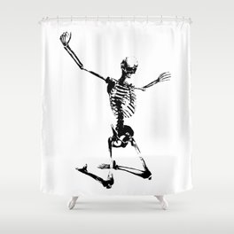 SKELETON GIVE UP Shower Curtain