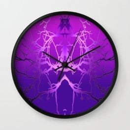Transforming Purples Wall Clock