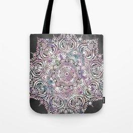 Dreams Mandala - Magical Purple on Gray Tote Bag