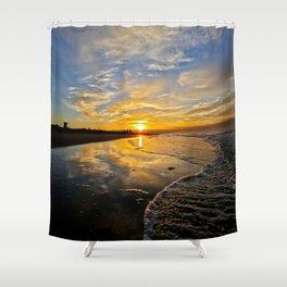 Huntington Beach Sunrise    12/8/13 Shower Curtain