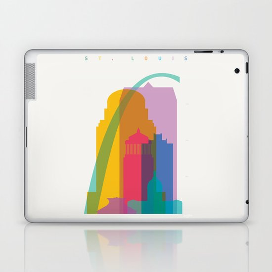 Shapes of St. Louis. Accurate to scale Laptop & iPad Skin