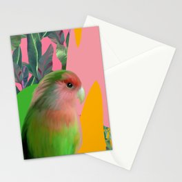 Love Bird with Palms Stationery Cards