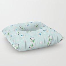 Snow Bunnies & Snow Pandas Floor Pillow