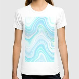 Cool Pastel Blue Lava Marble  #marble #society6 #abstractart T-shirt