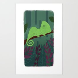 Cameleon Spot Art Print