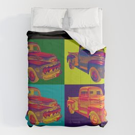 Colorful 1951 Ford F-1 Pickup Truck Pop Art  Comforters