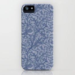 Blue Sparrow iPhone Case