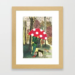 The Lesser Spotted Four Legged Toadstool Framed Art Print