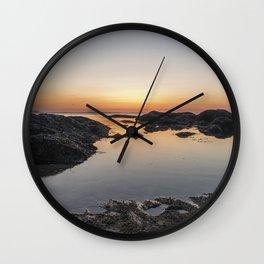 Spring Sunset at Plum Cove Beach Wall Clock