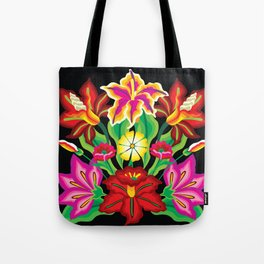 Mexican Exotic Flowers Tote Bag