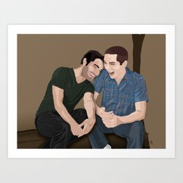 Laugh Together Art Print