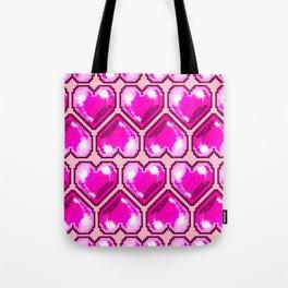 Pixel Hearts Tote Bag
